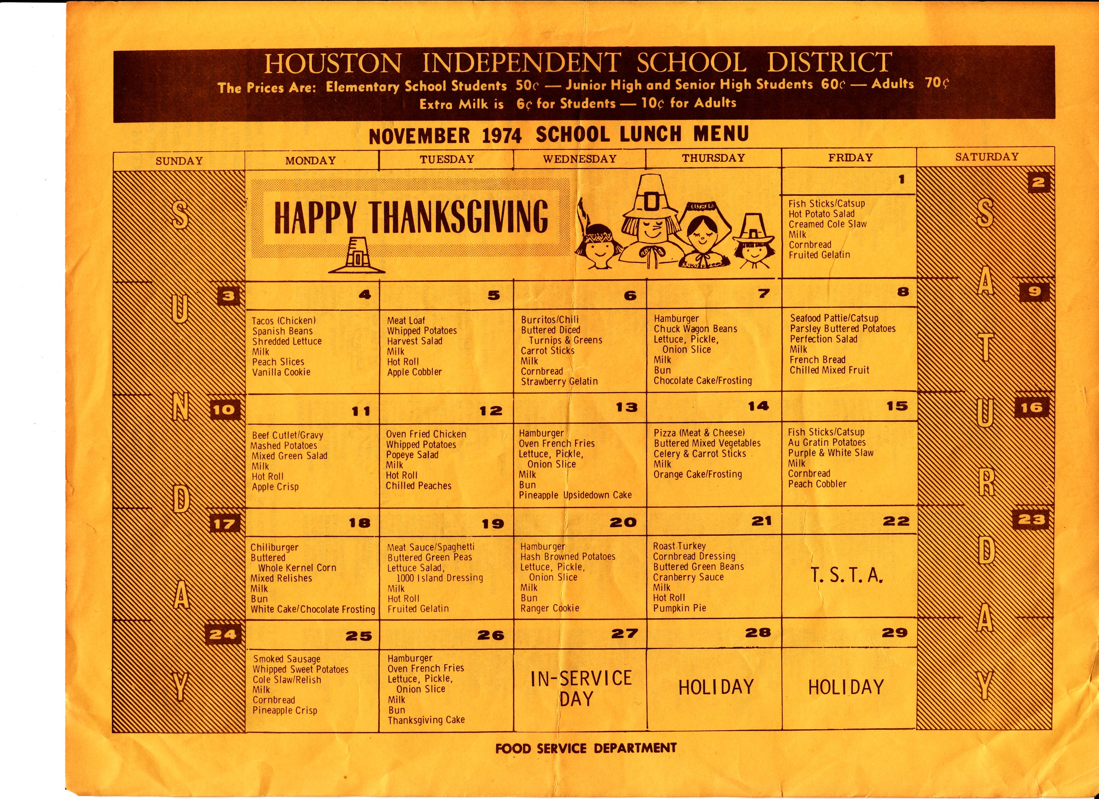From The Time Capsule School Lunch In 1974 The Lunch Tray